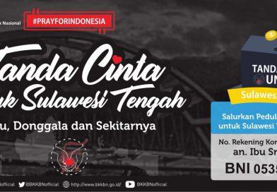 Tanda Cinta untuk Sulawesi Tengah